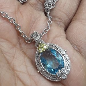 Judith ripka blue topaz necklace